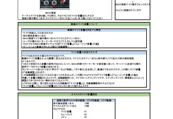 うたスキ動画の音量設定まとめ(MAX2対応)